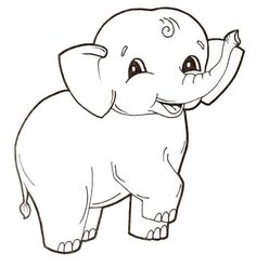 Cute Baby Elephant Coloring Page From Elephants Category Select 27260 Printable Crafts Of Cartoons Nature Animals Bible And Many More