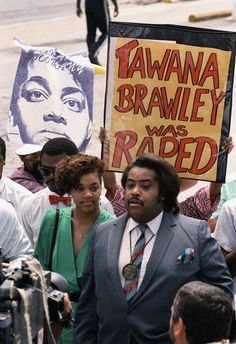 Al Sharpton 1988 with Tawana Brawley, the black woman who claimed she was raped and smeared, literally, with bodily waste by young white men. It turned out she did it to herself and wanted attention. So did Al. Racism then and racism now. INFOWARS.COM  BECAUSE THERE'S A WAR ON FOR YOUR MIND