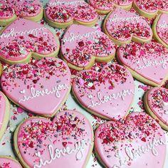 Valentines sprinkle hearts