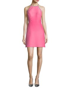 embellished a-line halter dress by kate spade new york at Neiman Marcus.