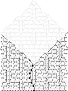 Sleeves Stitch Diagram showing the slip stitches Crochet Blouse, Crochet Lace, Crochet Bikini, Bolero Pattern, Free Pattern, Crochet Chart, Crochet Stitches, Stitch Patterns, Crochet Patterns
