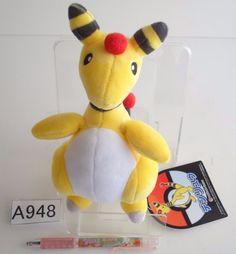 Pokemon Center Ampharos Pharamp Plush Doll.with the bonus item From japan #PokemonCenter