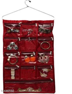 Checkout this latest Jewellery Boxes_0-500 Product Name: *13 Pocket Hanging Organizer* Material: Satin Size: 42 cm x 36.5 cm x 1 cm Description: It Has 1 Piece Of 13 Pocket Hanging Organizer Country of Origin: India Easy Returns Available In Case Of Any Issue   Catalog Rating: ★4 (229)  Catalog Name: Elite Saree Organisers Vol 3 CatalogID_48584 C131-SC1625 Code: 102-446592-504