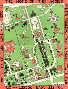 Details about ORIGINAL ANTIQUE SMITH COLLEGE CAMPUS MAP 1938