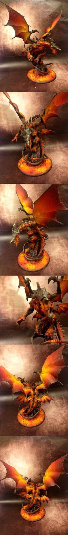 Archangel, Legion of Everblight gargantuan. It's so cool how they got the molten effect.