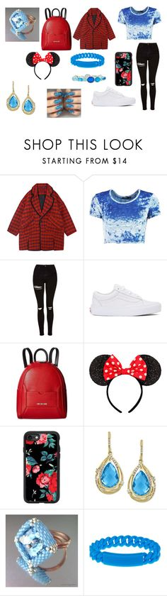 """""""Sans titre #1619"""" by heartss-13 ❤ liked on Polyvore featuring Boohoo, Topshop, Vans, Love Moschino, Casetify, Effy Jewelry, Marc Jacobs and Ippolita"""