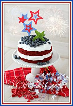 Curry and Comfort: Red White and Blue Cake for July 4th