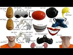 German Body Parts with Mr. Potato Head