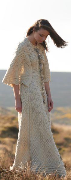 Fantasy Aran Dress by Natallia Kulikouskaya for AranCrafts of Ireland collection