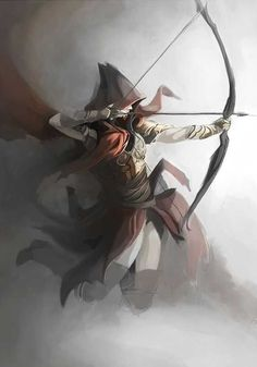 Who needs to see your target to shoot archery? Fantasy digital painting of an archer by QuintusCassius on deviantART Character Concept, Character Art, Concept Art, M Anime, Anime Art, Fantasy Kunst, Fantasy Art, Anime Fantasy, Elfen Fantasy