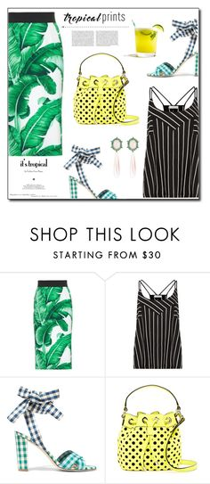 """""""Banana leaf"""" by dorinela-hamamci ❤ liked on Polyvore featuring Dolce&Gabbana, Oasis, J.Crew, Milly, Whiteley, tropicalprints, polyvorecontest, polyvoreditorial and hottropics"""