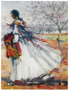 """Pagesa"", any 1941 - Autor: Narcis Puget Viñas (1874-1960)"
