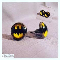 #brincos #earings #artesanato #acessories #craft #handmade #diy #geek #bd #dc #comics #batman #superhero