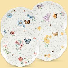 Butterfly Meadow® 4-piece Assorted Petite Dessert Plate Set  by Lenox