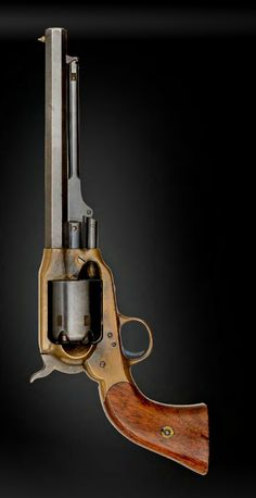 """An outstanding Confederate Spiller & Burr Rounded Frame Percussion Revolver The complete history of this company remains to be written. The company began in Richmond in 1862, but soon moved to Atlanta. A .36 Cal, 7"""" Oct barrel, S/N 1066.A great example of the rounded frame. Three of these are known to exist."""
