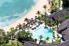 Sitting on the north coast of Mauritius, close to a quiet fishing village and overlooking three beautiful bays, is the five-star LUX* Grand Gaube, Mauritius. Lux Grand Gaube, Villas, Mauritius Honeymoon, Places To Travel, Places To Visit, Secluded Beach, Luxury Holidays, Fishing Villages, Beach Holiday