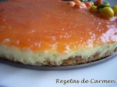 Tarta de queso con gelatina y membrillo