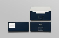 Envelope with gold foil detail for British multinational venture capital firm Tourean designed by Anagrama.
