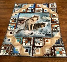 Colchas Quilting, Quilting Projects, Quilting Designs, Patchwork Designs, Quilting Ideas, Fabric Panel Quilts, Fabric Panels, Quilt Block Patterns, Quilt Blocks