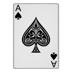 Ace of Spades Playing Poker Card Poster