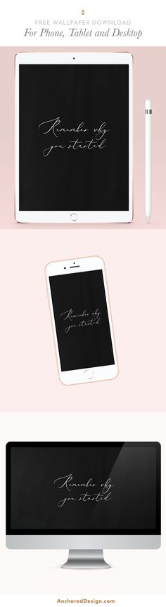 Apple Device Wallpaper – Remember Why You Started Imac Wallpaper, January Wallpaper, Entrepreneur, Remember Why You Started, Motivational Wallpaper, Office Stationery, Iphone Wallpapers, Invitations, Apple