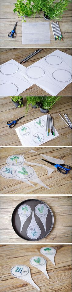 Use plastic or shrinkydink plastic to make plant labels Pasta Fimo, Plant Labels, Shrink Art, Balcony Plants, Crafts For Kids, Diy Crafts, Acrylic Charms, Garden Markers, Shrinky Dinks