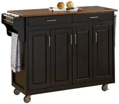 Home Styles 92001046G CreateaCart Black Finish with Oak Top ** See this great product.Note:It is affiliate link to Amazon.