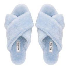 Miu Miu furry slippers