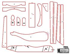 Youth Size Adirondack Chair Plans - Dwg Files For Cnc Machines