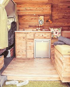 When you open the door to 'Juanita' her cosy wooden interior will entice you to step onto the AstroTurf landing kick off your shoes and prepare your favourite meal or just sit back and grab a beer from the Waeco fridge powered by the solar panels. Getting so excited for our maiden voyage in 6 days...here we come Byron Bay.   #cosycampers #sprintervan #sprintervanlife #sprinterconversion #sprintercampervans #diycampervan #vanlife #vanlifediaries #vanbuild #campervan #camperbuild #tinyhouse…