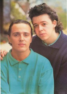 A great poster of Roland Orzibal and Curt Smith of the classic 80's band Tears for Fears! An original published in 1985. Ships fast. 25x35 inches. Need Poster Mounts..? bm1981