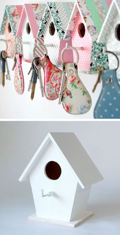 Bird House Key Hooks | 22 DIY Birthday Gift Ideas for Girls | Homemade Birthday Gift Ideas for Friends