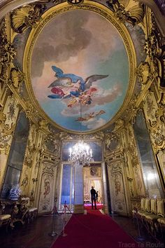 Palazzo Reale Turin - plafond intérieur salle du Palais Royal