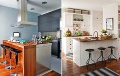 Dos modelos de cocina con desayunador