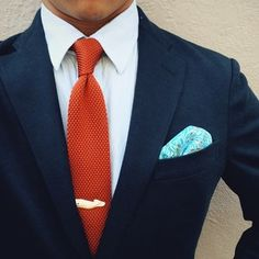 @thedressedchest sporting the Davy Jones pocket square - Madison Pears