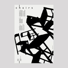 Just black, repetition, change of size and rotation maurizio milani chairs. Graphic Design Layouts, Graphic Design Posters, Graphic Design Typography, Graphic Design Inspiration, Layout Design, Design Graphique, Art Graphique, Book Design, Cover Design
