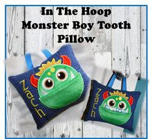 In the Hoop Tooth Monster Boy Pillow Embroidery Machine Design - Newfound Applique Best Embroidery Machine, Pillow Embroidery, Machine Embroidery Projects, Applique Embroidery Designs, Machine Applique, Embroidery Ideas, Creative Embroidery, Tooth Pillow, Tooth Fairy Pillow
