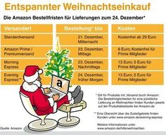 Amazon Deutschland: Bestellfristen für eine pünktliche Heiligabend-Lieferung  - http://www.onlinemarktplatz.de/54962/amazon-deutschland-bestellfristen-fuer-eine-puenktliche-heiligabend-lieferung/