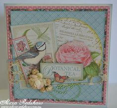 Botanical Tea Card by Alicia Redshaw