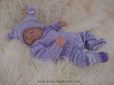 Baby Knitting Pattern - Download PDF Knitting Pattern - Sweater Set - Girls or Boys - Homecoming Outfit - Reborn Dolls 0-6 Months Baby Knitting Patterns