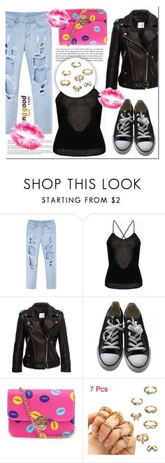 """""""BANGGOOD 19"""" by mini-kitty ❤ liked on Polyvore featuring Anine Bing and Converse"""