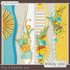 Ray of Sunshine Borders. Use these border ideas for cards, keeping the centre open for stamping a sentiment.