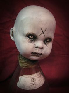 Creepy Gothic Zombie Baby Doll  Art Print
