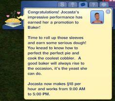 Baker career (placeholder) with Zerbu's Ultimate Career Mod