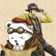 I need you like a heart needs a beat | SteamPunk Bepo & Law not my, found on:...
