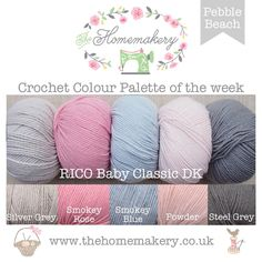 Pebble Beach - RICO Baby Classic DK £12.5 http://www.thehomemakery.co.uk/wool-yarn/wool-rico-designs/pebble-beach-rico-baby-classic-dk