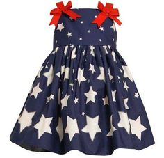 New Girls Bonnie Jean sz 2T Navy White Star 4th of July Dress Summer Clothes NWT on eBay!