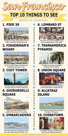 See everything in San Francisco with this self-guided walking tour by a local - me! It will take you these top 10 must-see places. Also includes step-by-step itinerary for a second and third day in SF, if you have more time. With this walking tour, I know San Francisco Travel Guide, Tours In San Francisco, Sightseeing In San Francisco, San Francisco Must See, Places In San Francisco, San Francisco California, Visiter San Francisco, Trinidad, Places To Travel