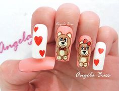 Manicure, Nail Art, Beauty, Sour Cream, Templates, Amor, Frases, Bear Claws, Unicorn Nails