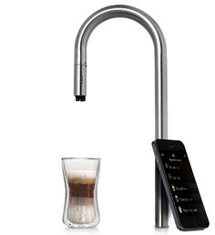 TopBrewer: With a simple touch of your smartphone or tablet the TopBrewer brews your favourite coffee drink using the freshly ground coffee beans.
